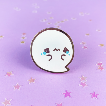 Spooky Cute - Sad Ghostie Pin