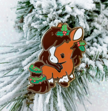 Holly Horse Pin (Limited Edition: Brown)