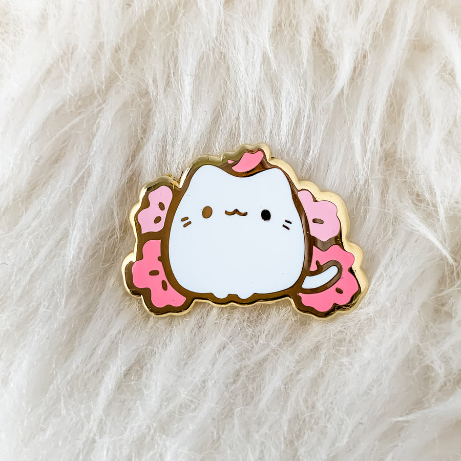 Cherry Blossom Kitten Pin (Open Edition)