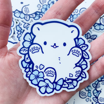 Periwinkle Polar Bear Vinyl Sticker