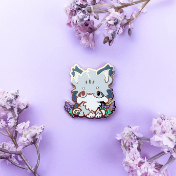 FLORANIMALS #001-A  ✿ Lavender Lynx Pin (Patreon Limited Edition) (Seconds Only)
