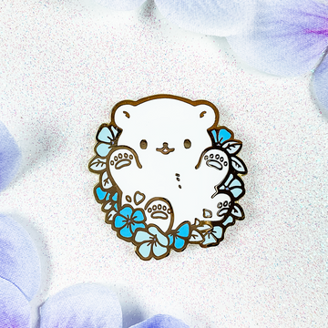 Periwinkle Polar Bear Pin (Limited Edition: Blue)