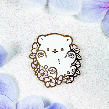 Periwinkle Polar Bear Pin (Open Edition: Pink)