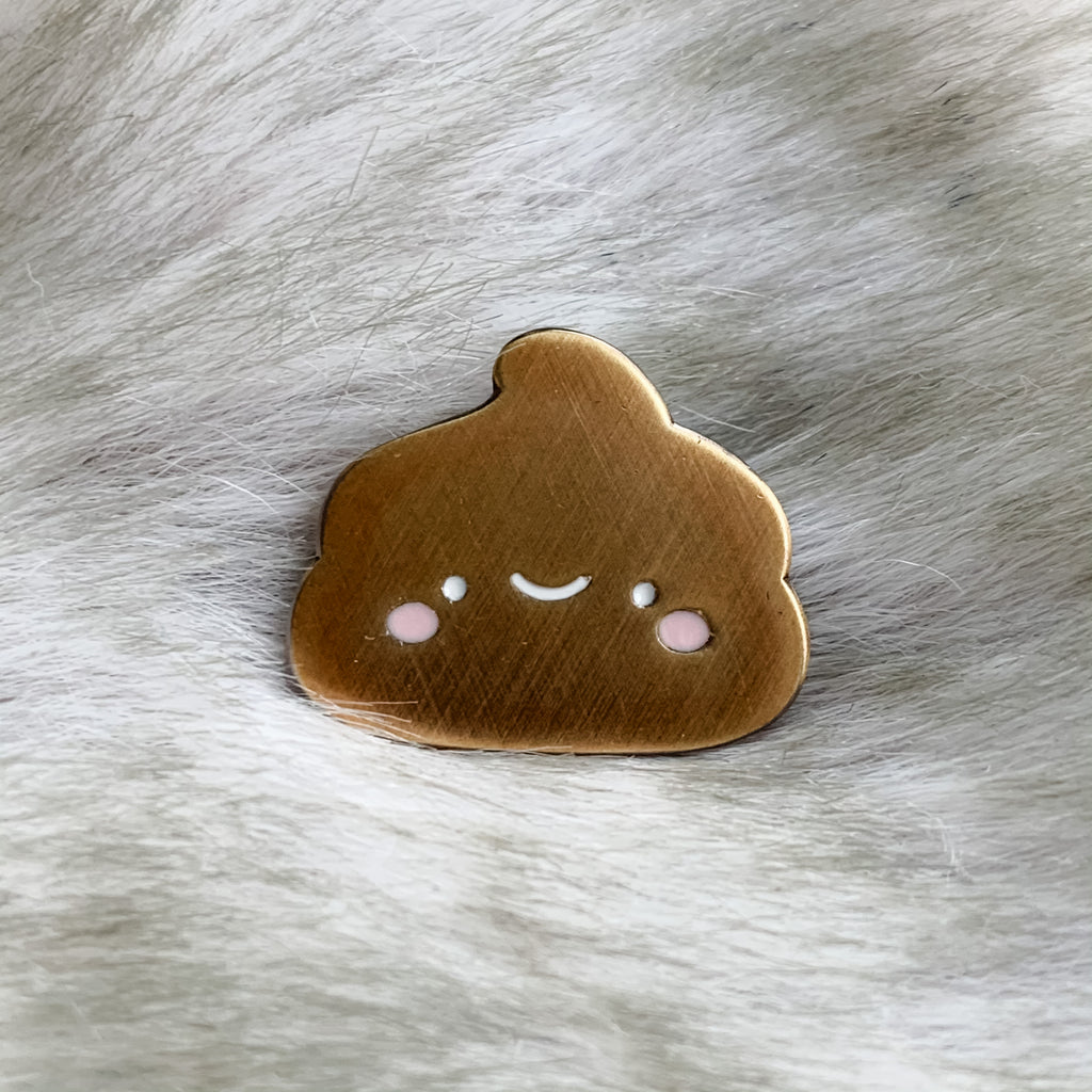 Golden Poop Mini Pin