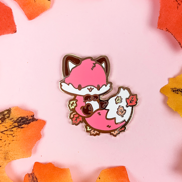 Red Maple Fox Pin (Limited Edition: Red)