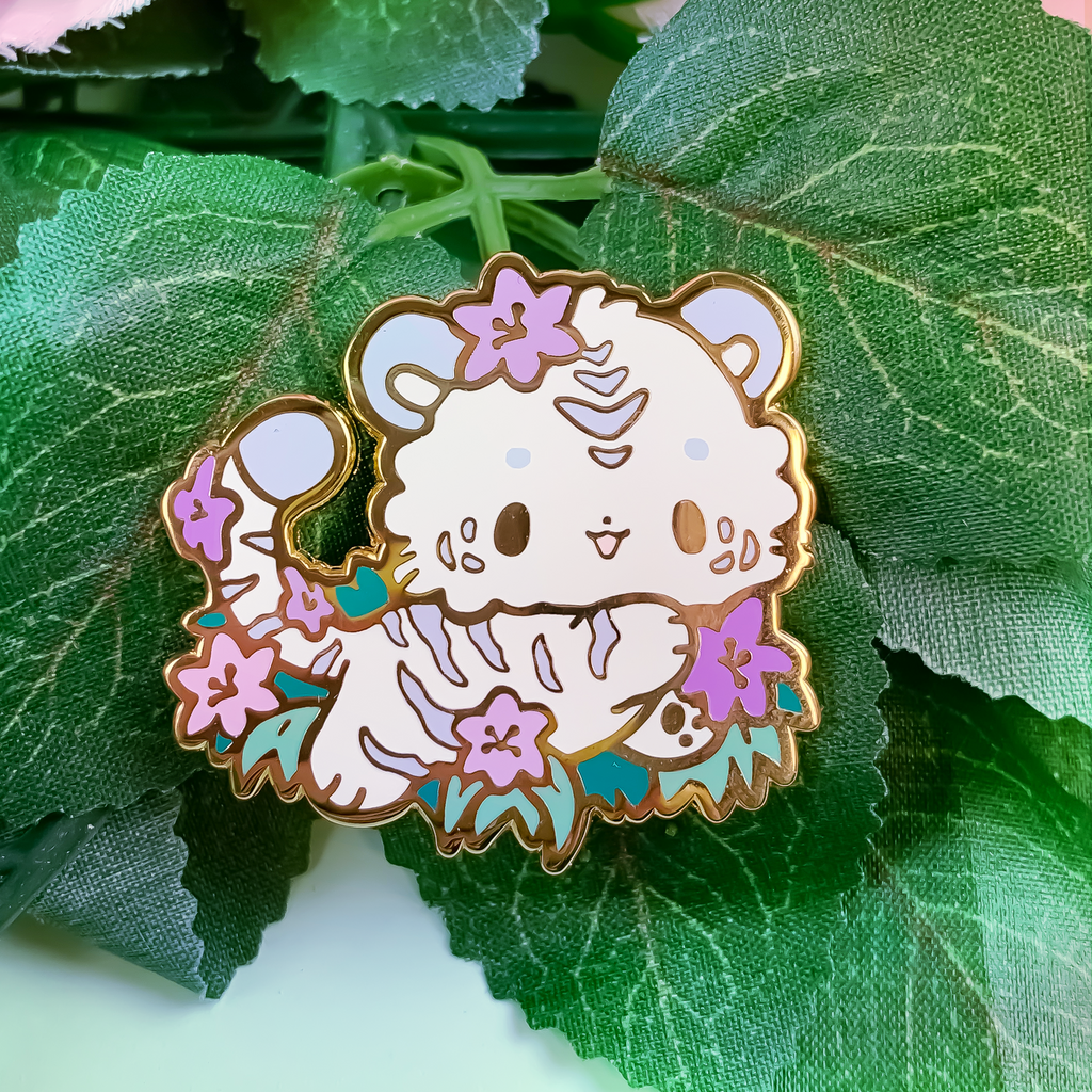 Tigerlily Tiger Pin (Open Edition: Purple)