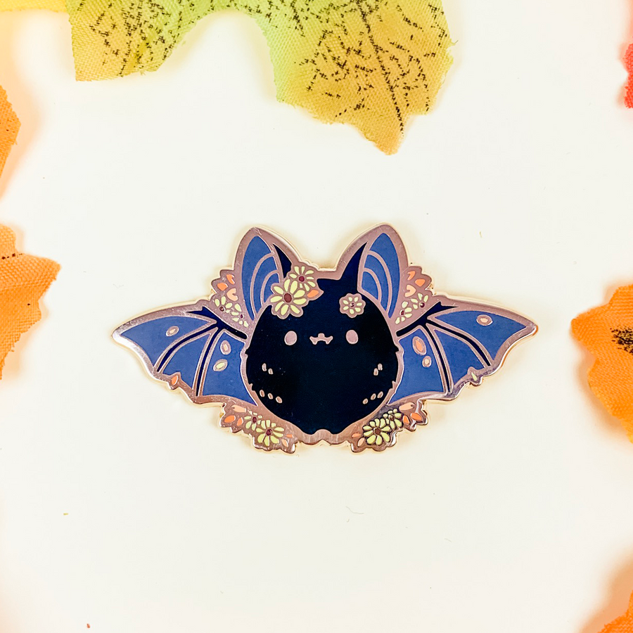Black Eyed Susan Bat Pin (Open Edition: Black)