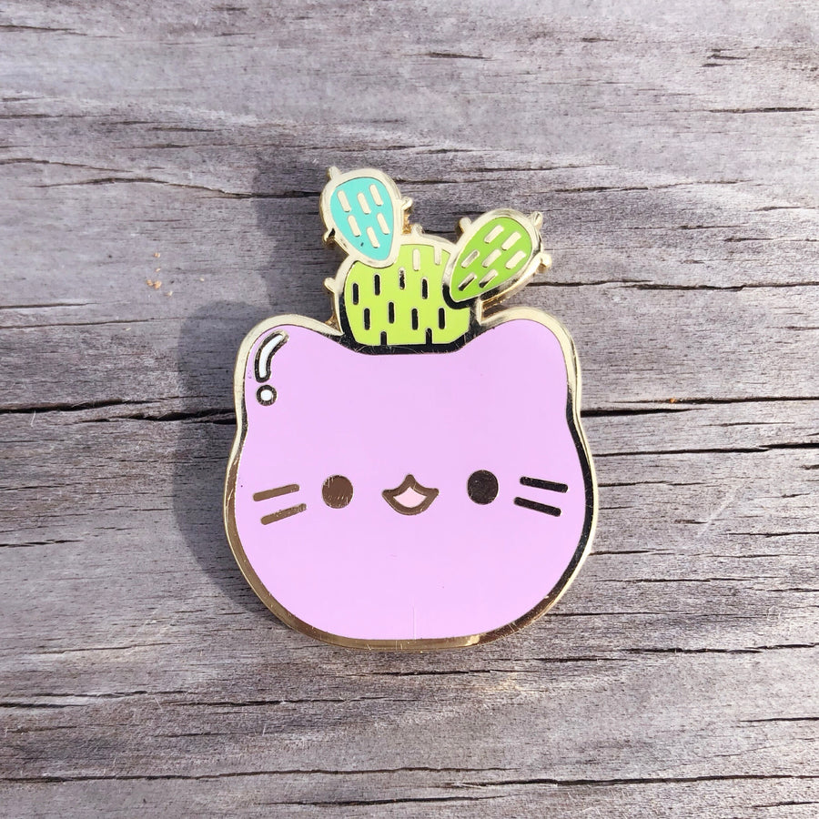 Cactus Kitty Pin