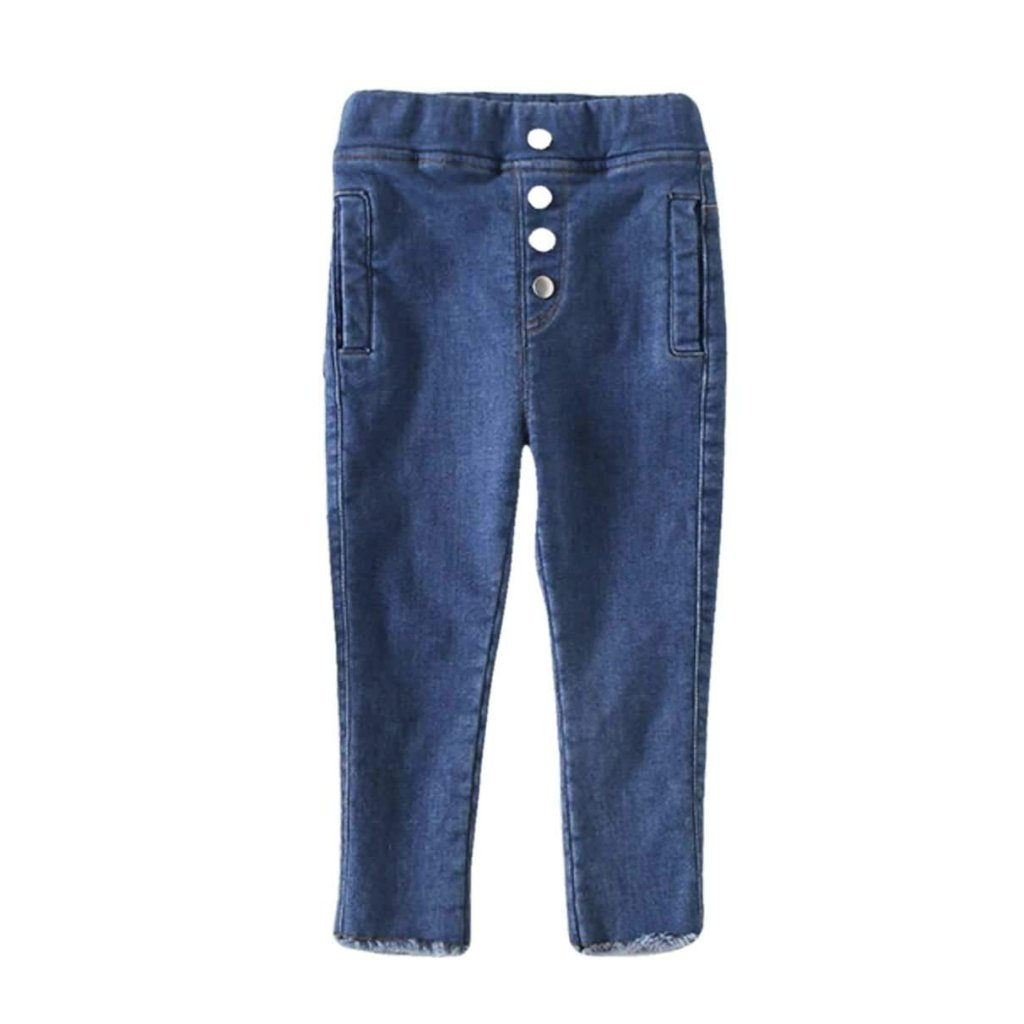 Baby Toddler Skinny Jeans Lined | Blue