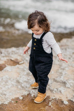 Toddler Black Denim Overalls | Sluice Farbo