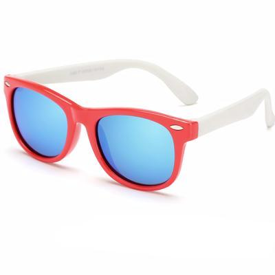 Red White Unbreakable Kids Cat Eye Sunglasses | Sluice Farbo