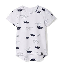 paper boat kids shirt toddler baby