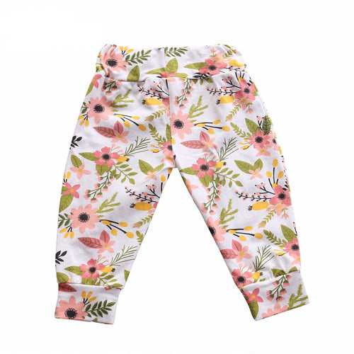 Pink floral baby pants | Sluice Farbo