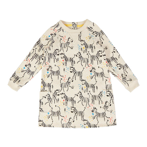 Girls Spring Dress - Happy Zebras  | Sluice Farbo