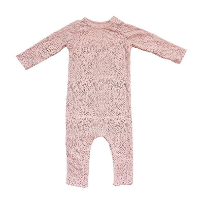 Baby Pink Long Sleeve Dotted Romper | Sluice Farbo