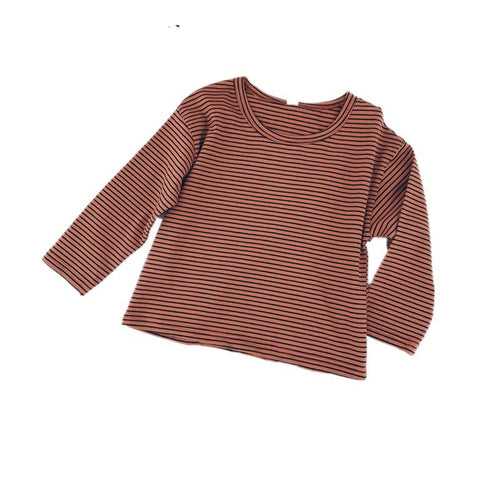 Kids Easy Long Sleeve Shirt Brown | Sluice Farbo