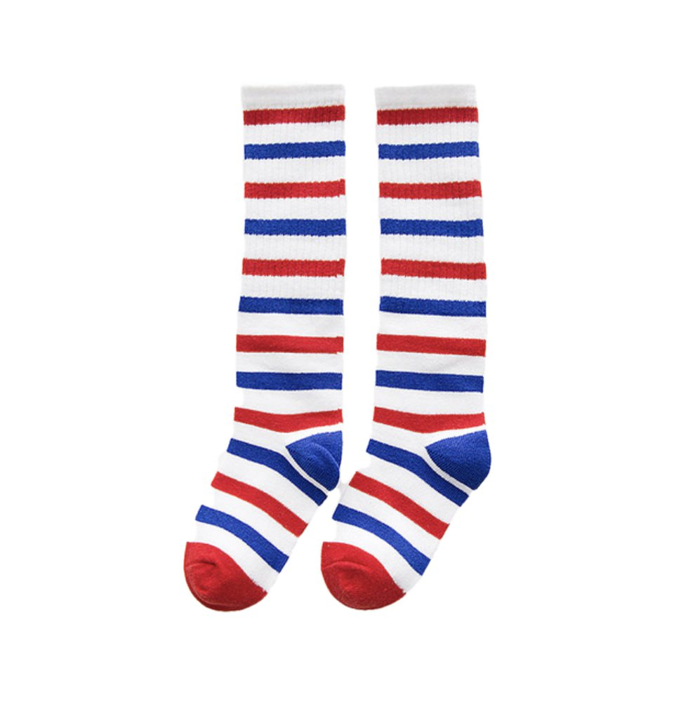 Red White and Blue Knee Socks