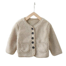 Baby Kids Tan Sherpa Jacket | Sluice Farbo
