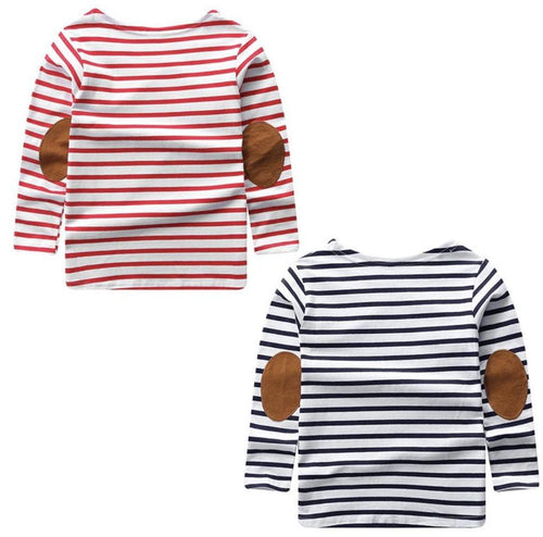 Kids Striped Elbow Patch Breton Shirt | Sluice Farbo