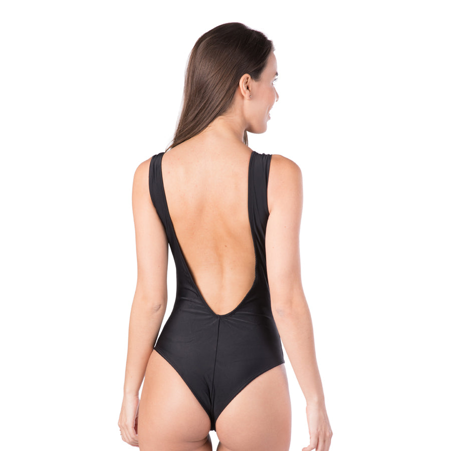 BLACK KEYHOLE ONE PIECE - Bikinis Market