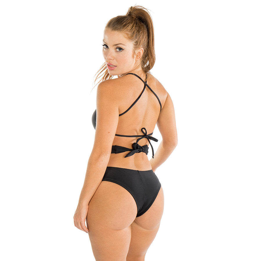ee1561bab6 Black Bandage One-Piece Bathing Suit | Brazilian Bikini ...