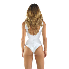 WHITE CRISS CROSS ONE PIECE - Bikinis Market