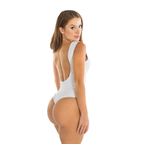 WHITE KEYHOLE ONE PIECE - Bikinis Market