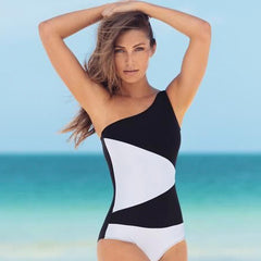 BLACK / WHITE KIM ONE PIECE - Bikinis Market