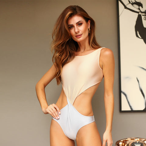 NUDE / SILVER TATY ONE PIECE