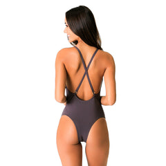 SPIAGGIA BROWN ONE PIECE - Bikinis Market