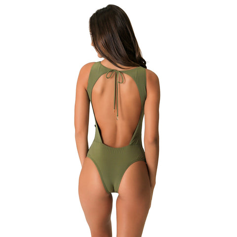 CIA ARMY GREEN ONE PIECE - Bikinis Market