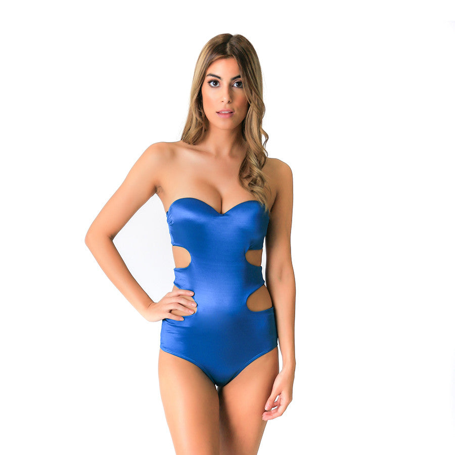 METALLIC BLUE SAINTBART ONE PIECE - Bikinis Market