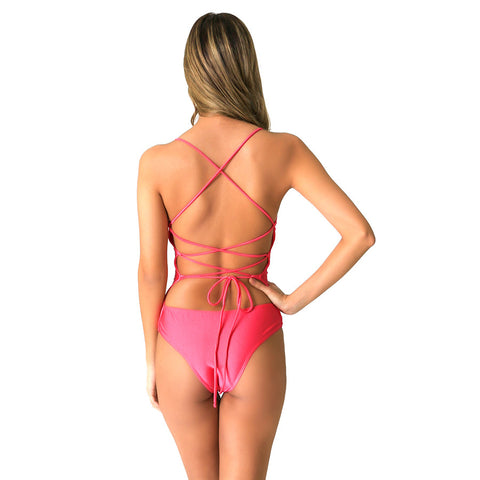 FLORIDA BUBBLE GUM PINK ONE PIECE - Bikinis Market