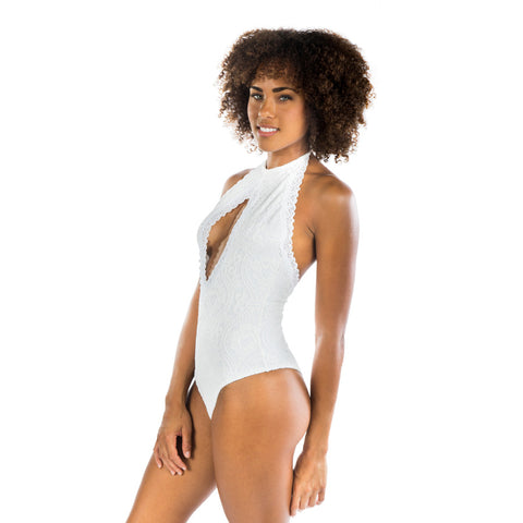 WHITE LACE ONE PIECE - Bikinis Market