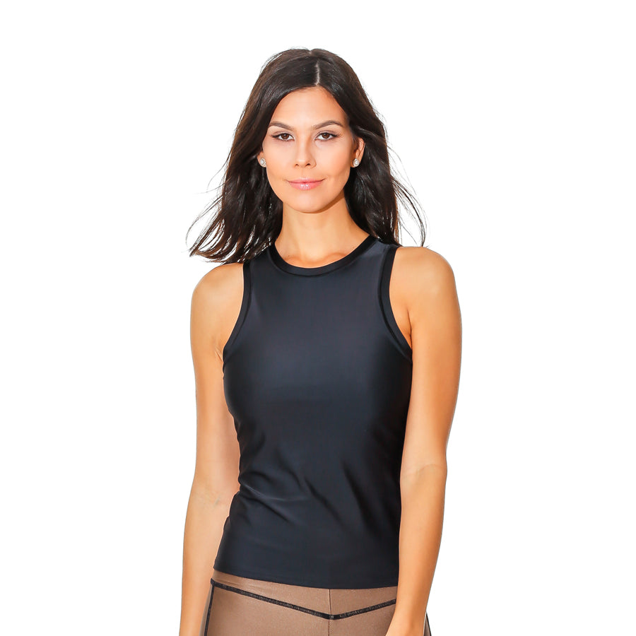GIRL SLIM BROWN TANK TOP - Bikinis Market