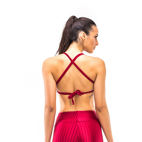 IKATE RED SPORTS BRA - Bikinis Market