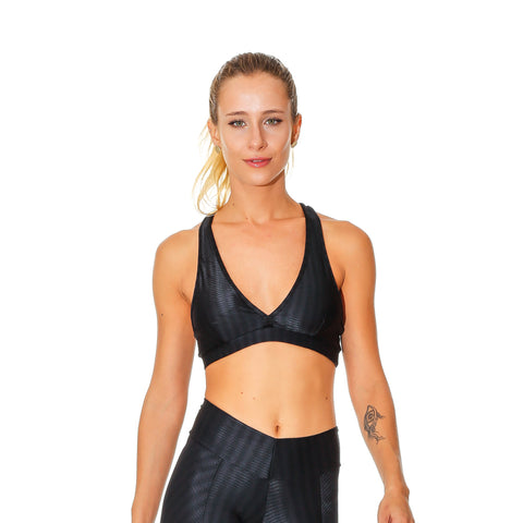 OREGON LUCY BLACK SPORTS BRA - Bikinis Market
