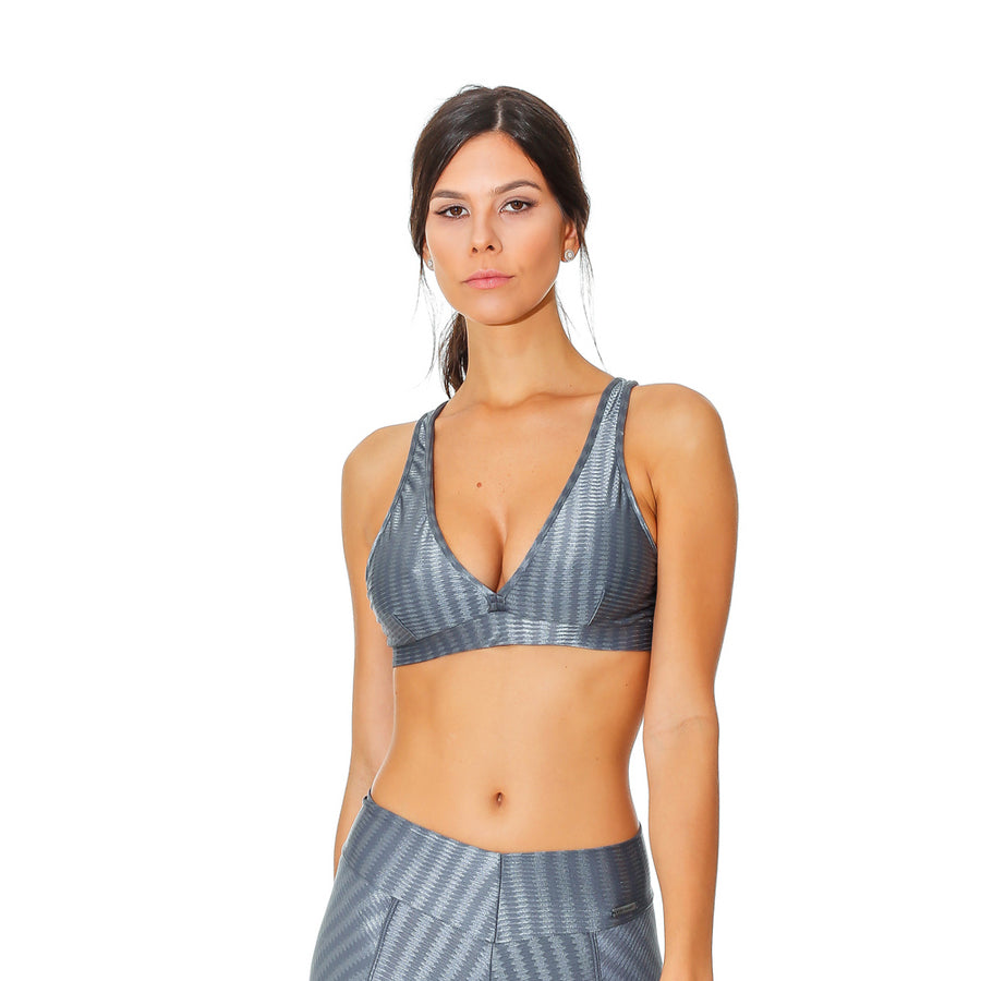 OREGON LUCY GRAY SPORTS BRA - Bikinis Market