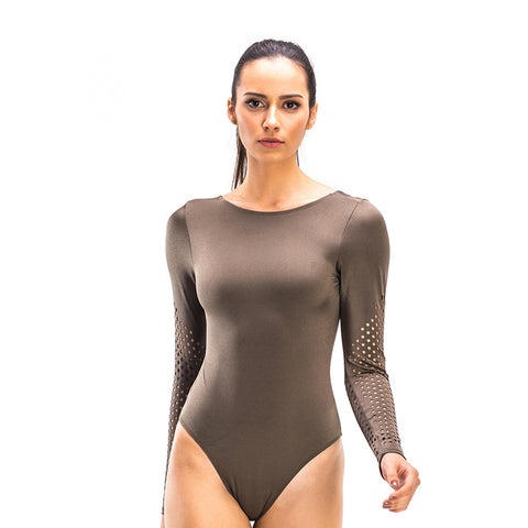 PAULA BROWN LONG SLEEVE BODYSUIT - Bikinis Market