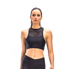 POWER BLACK LASER CROP TOP - Bikinis Market