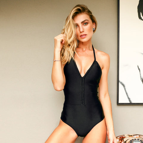 BLACK MIC ONE PIECE - Bikinis Market
