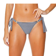 ANA RING STRIPED BLACK AND WHITE BIKINI BOTTOM - Bikinis Market