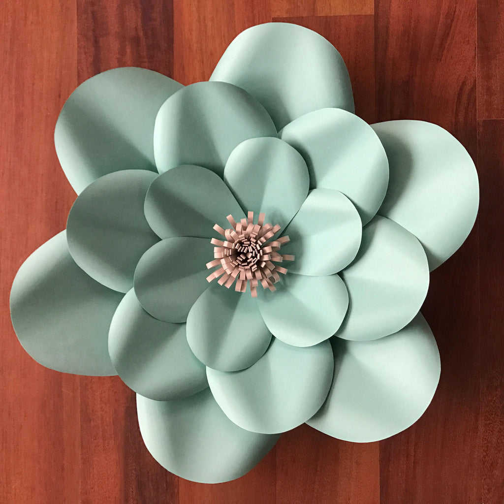 pdf petal 1 paper flower template/printable/trace and cut/ 3d giant