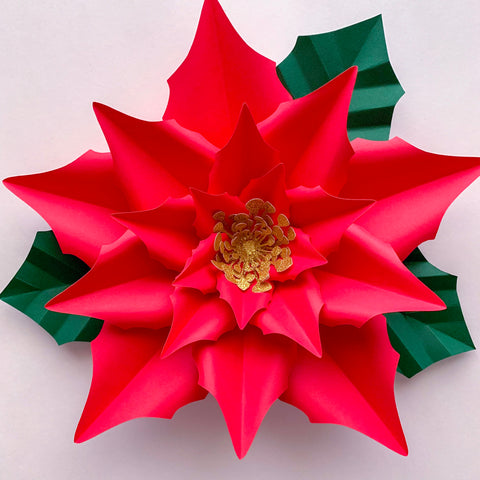 Pdf Paper Flowers New Poinsettia Templates 3d Diy Paper Flower