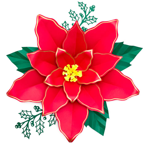Pdf Paper Flowers Poinsettia 4 Templates 3d Diy Paper Flower