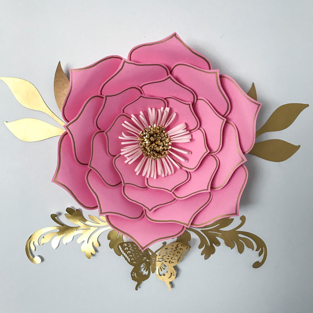 pdf petal 3 paper flower template printable trace and cut 3d giant
