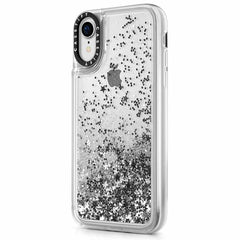 Casetify Glitter Case Silver for iPhone XR