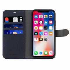Blu Element 2 in 1 Folio Case Navy/Tan for iPhone 11/XR