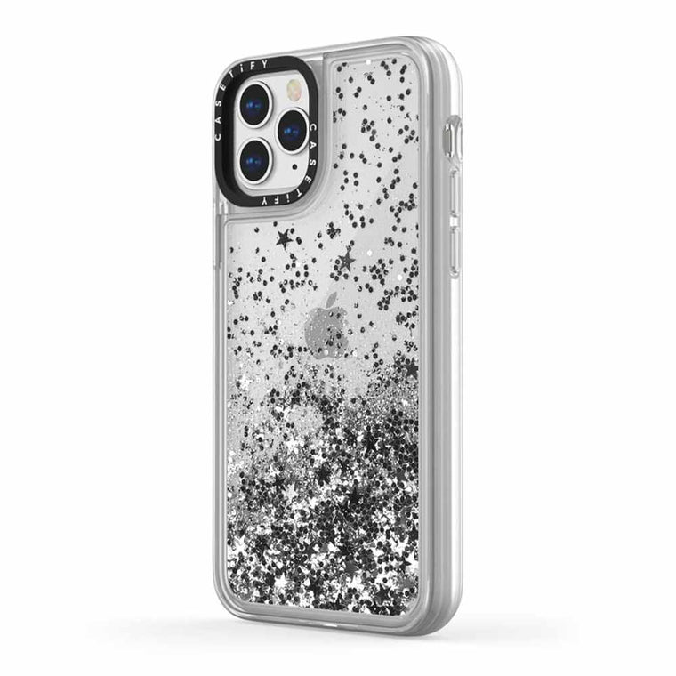 Casetify Glitter Case Monochrome Silver for iPhone 12/12 Pro