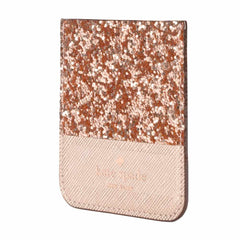 Kate Spade Sticker Pocket Glitter Rose Gold